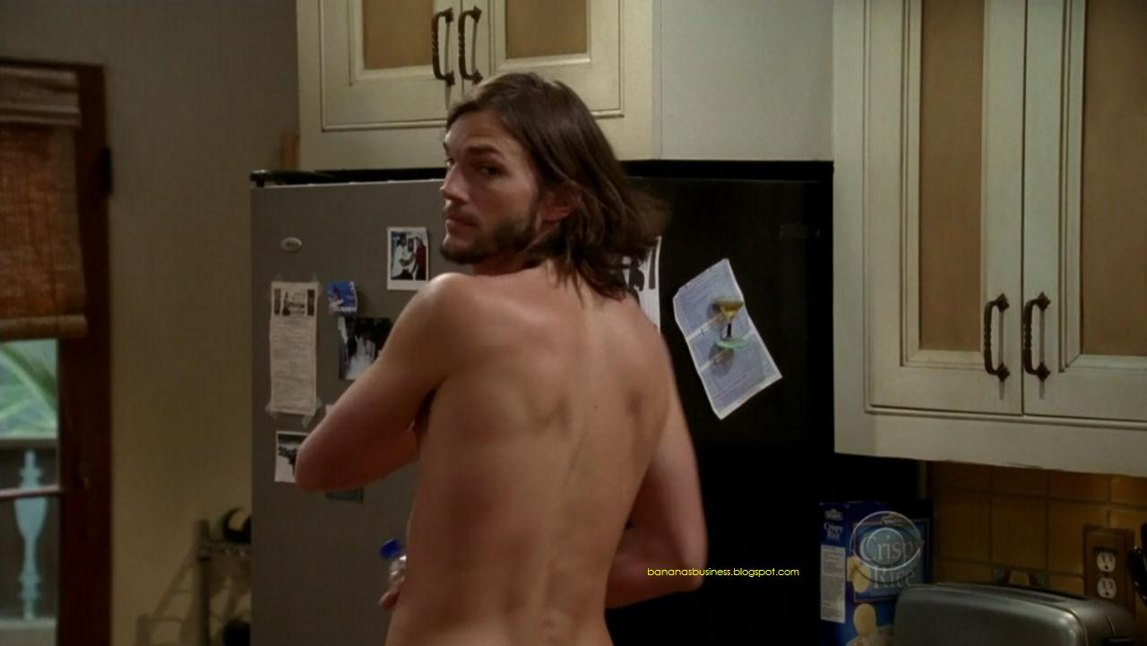 Ashton Kutcher Naked  Nude On Two And A Half Men  Bananas Is My Business-5951