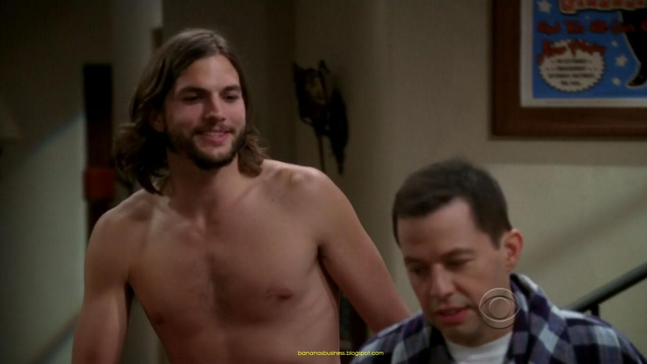 Ashton Kutcher Naked  Nude On Two And A Half Men  Bananas Is My Business-7839