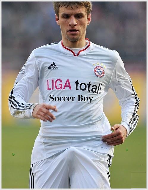 Parece que o Jogador Thomas Muller tá excitado…